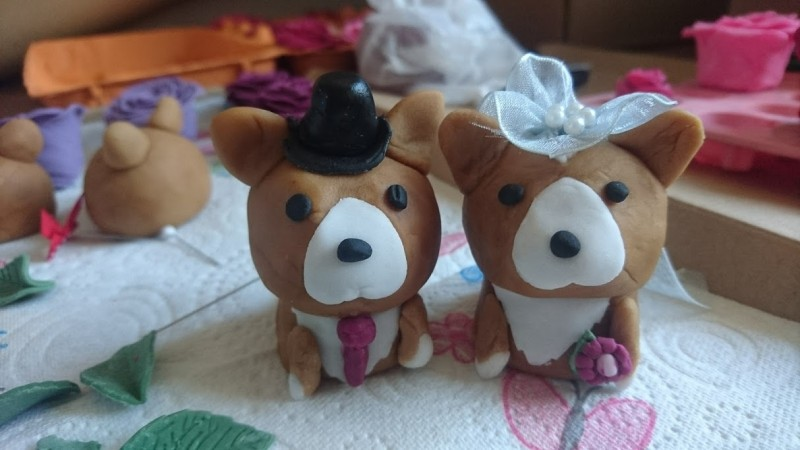 Corgi Wedding Cake Toppers